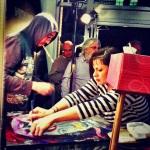 Jason Davis and Jessica Kallista in the zone live painting