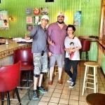 Curators Jason Davis, Javier Padilla, and Jessica Kallista