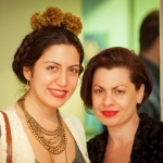 Mojdeh Rezaeipour and Jessica Kallista at Bodylore opening reception photo credit: Gopi Raghu