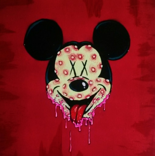 """Detail-- """"Measles Mickey"""" by BS"""